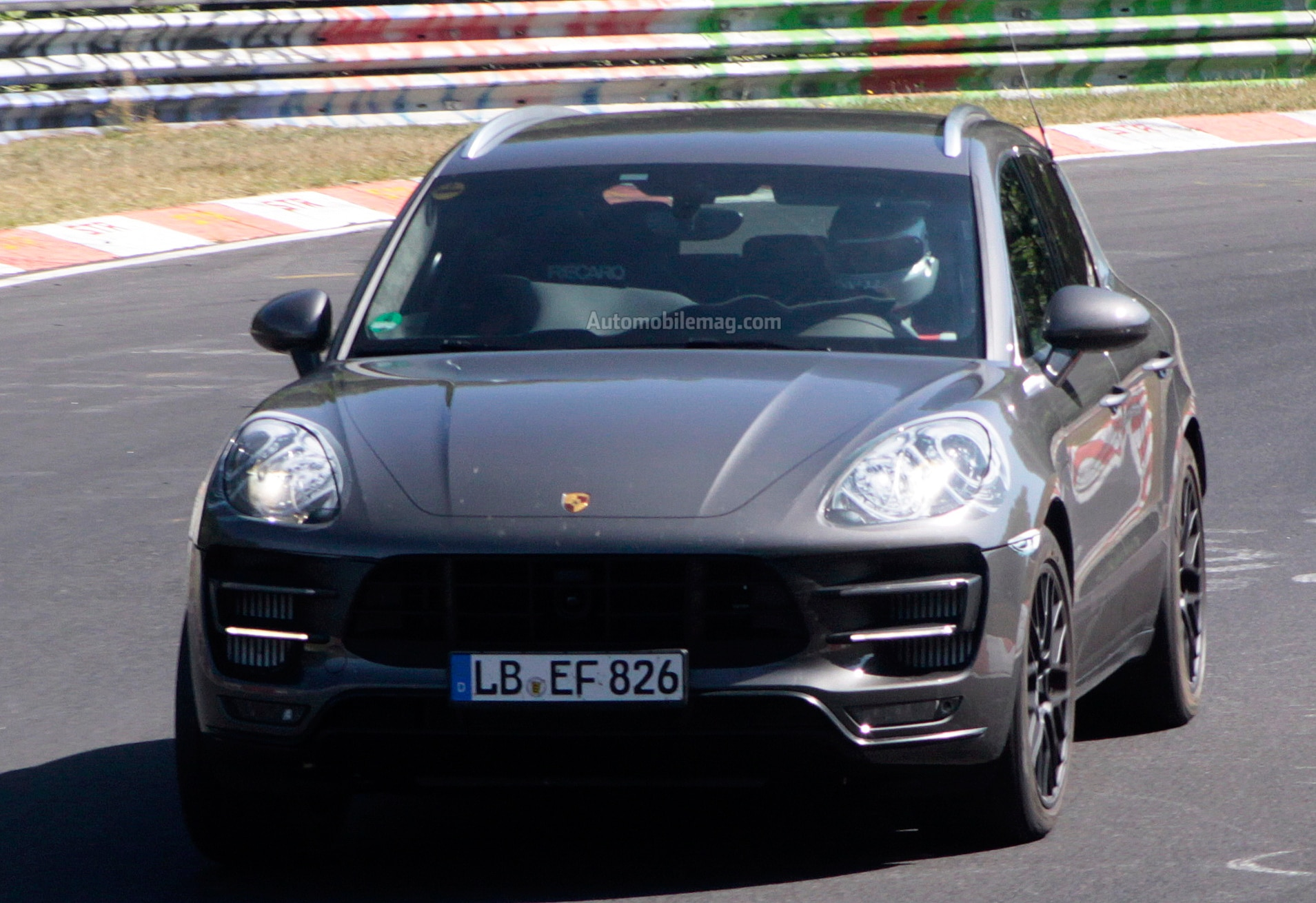 Porsche Macan Turbo Prototype Front Close1