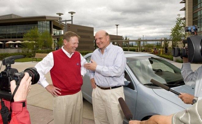 2010 Ford Fusion Steve Ballmer Alan Mulally 660x406