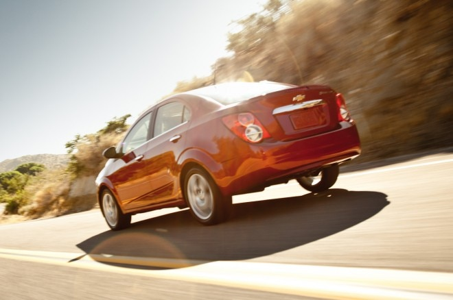 2014 Chevrolet Sonic Sedan Rear Three Quarter1 660x438