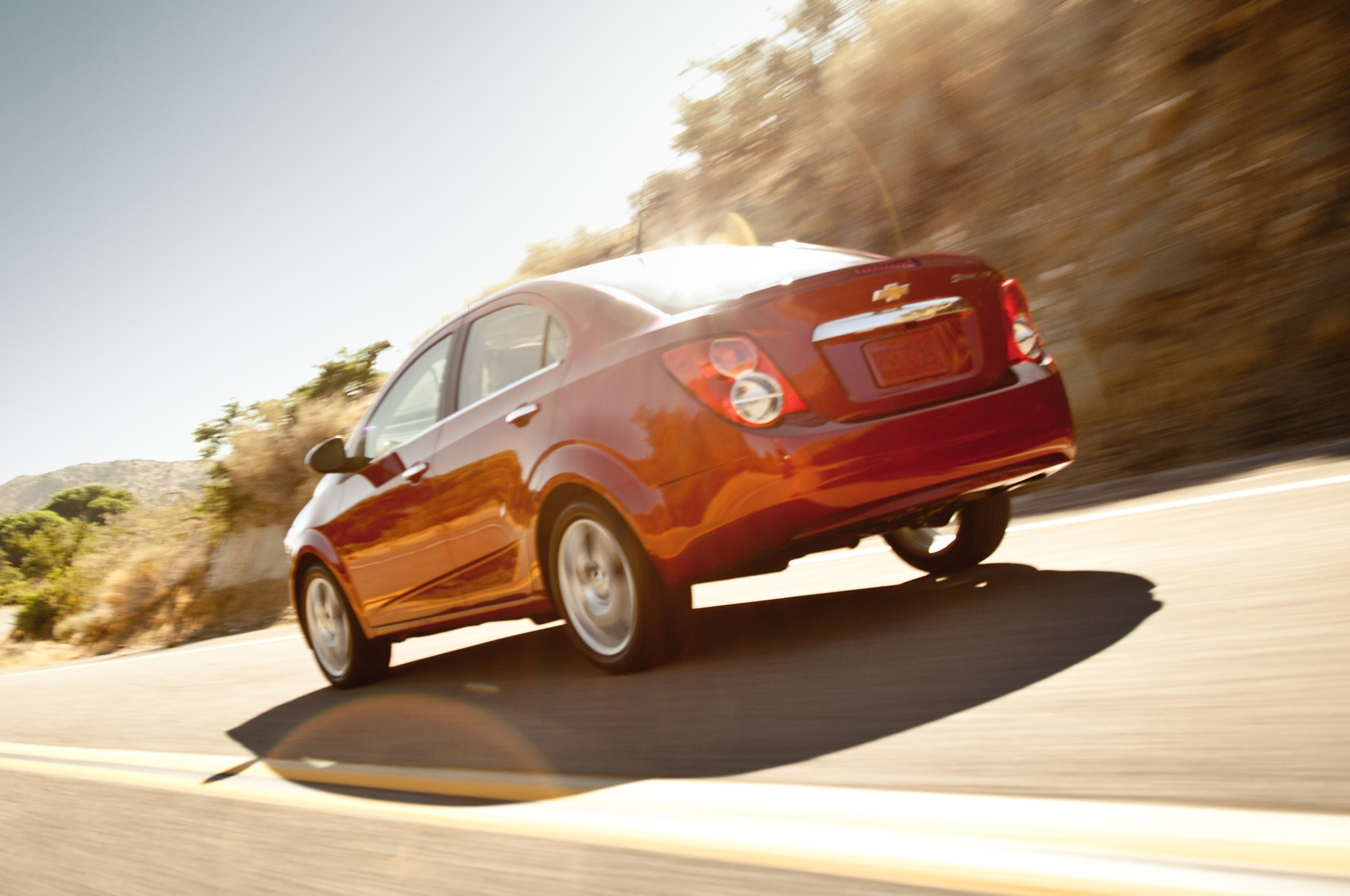 2014 Chevrolet Sonic Sedan Rear Three Quarter1