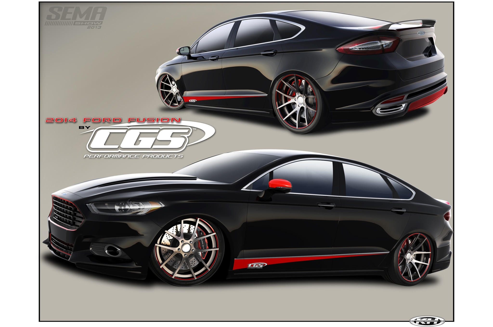 2014 ford fusion given 400 hp for sema. Black Bedroom Furniture Sets. Home Design Ideas