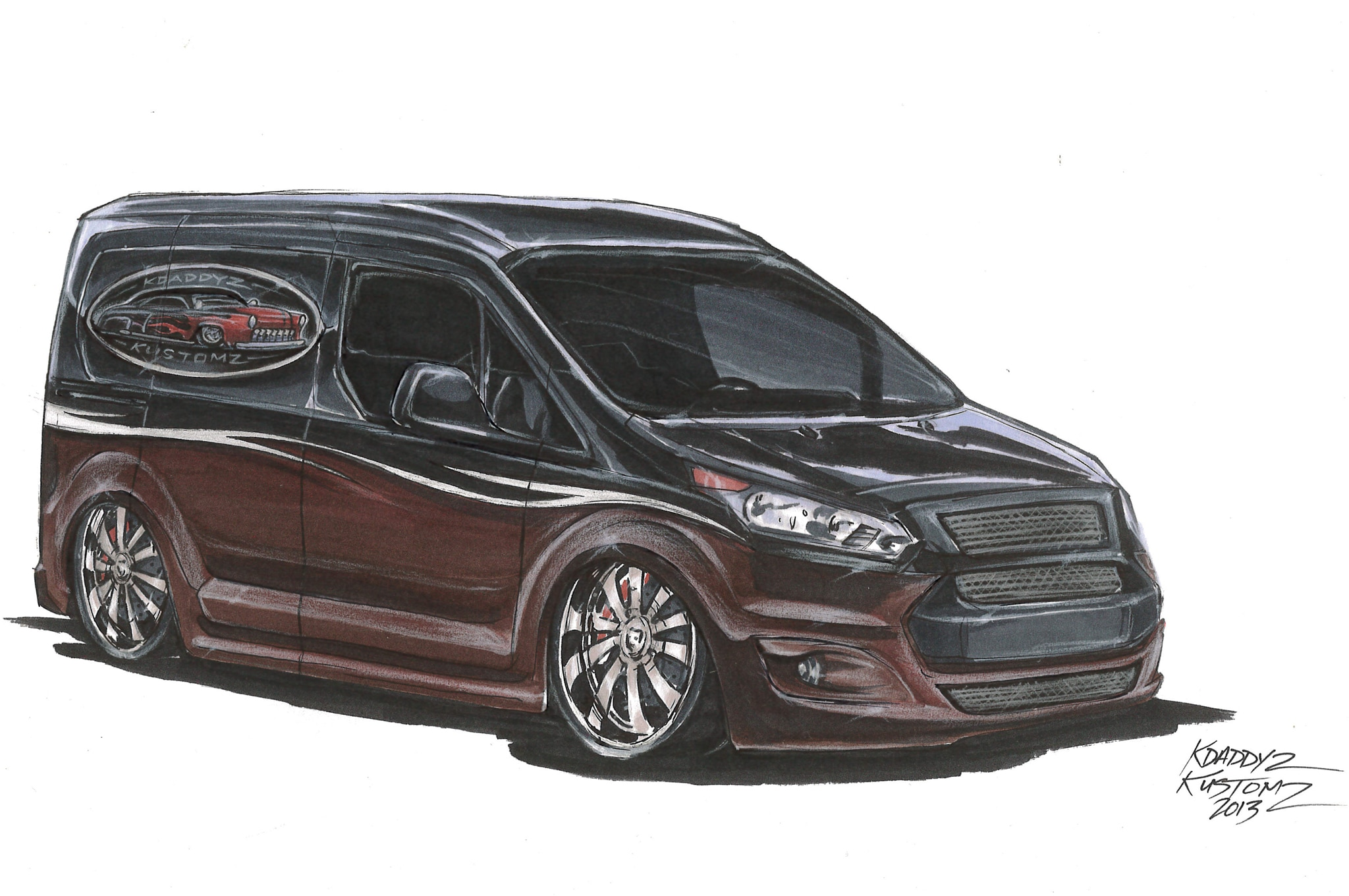 Transit Connect Modified >> 2014 Ford Transit Connect Vans Modified For 2013 SEMA Show