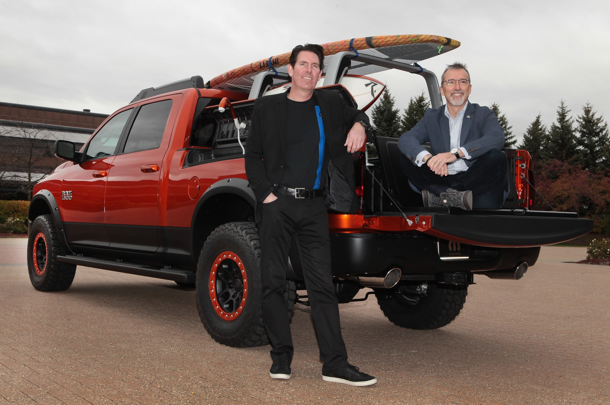 2014 Ram Sun Chaser SEMA Concept Rear View With Mark Trostle And Pietro Gorlier1
