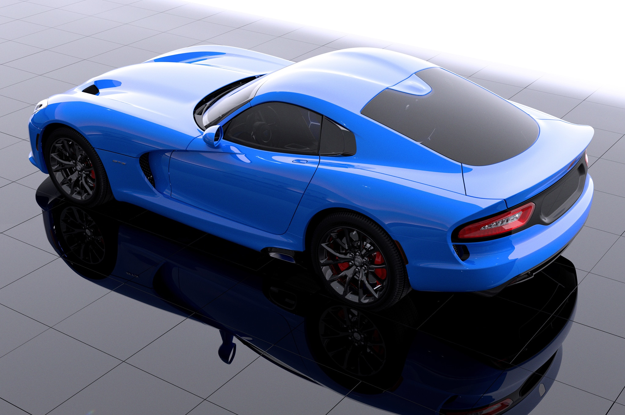 2014 SRT Viper GTS In New Blue Color Rear View1
