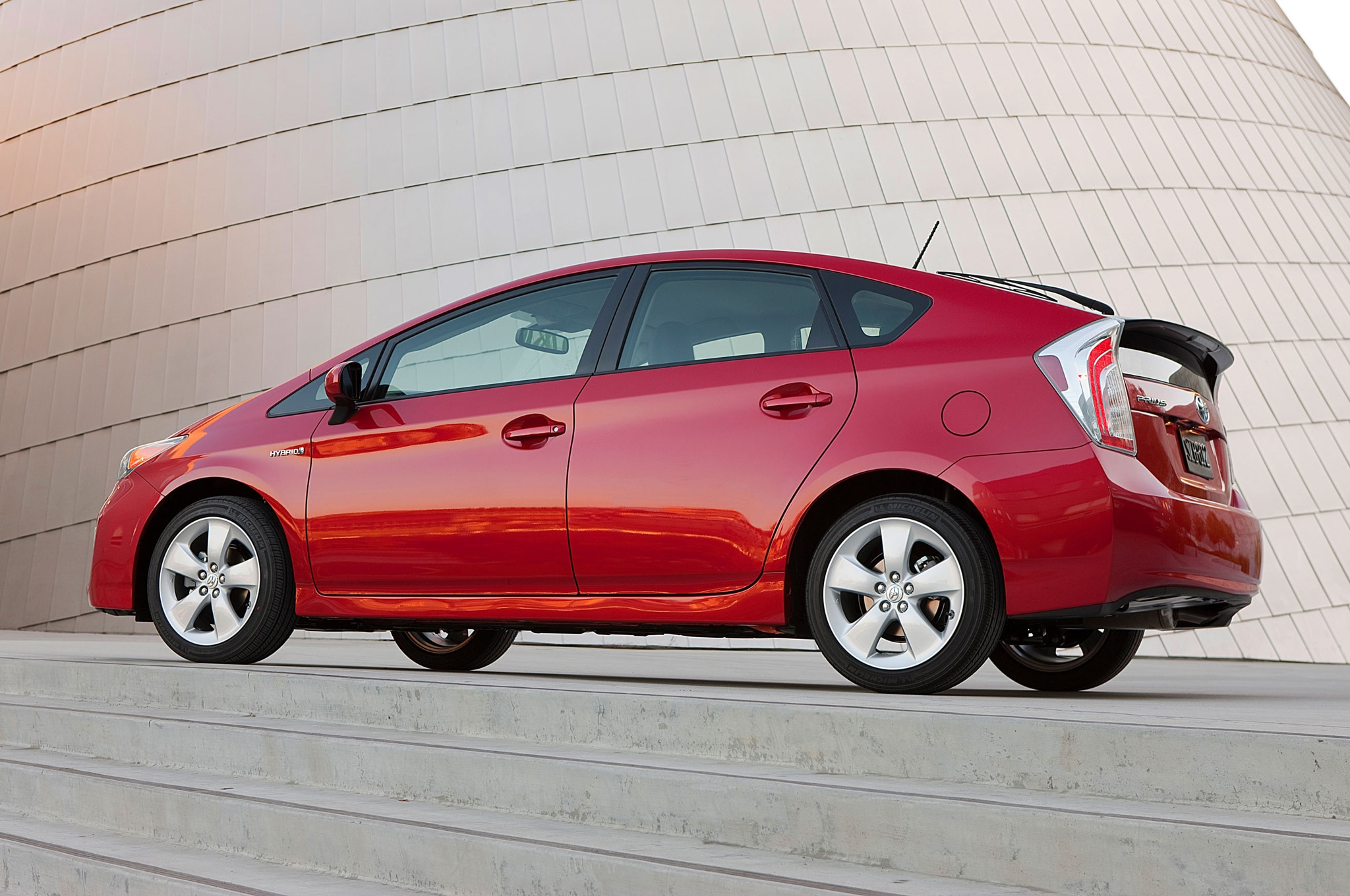 2014 Toyota Prius Rear Three Quarter1