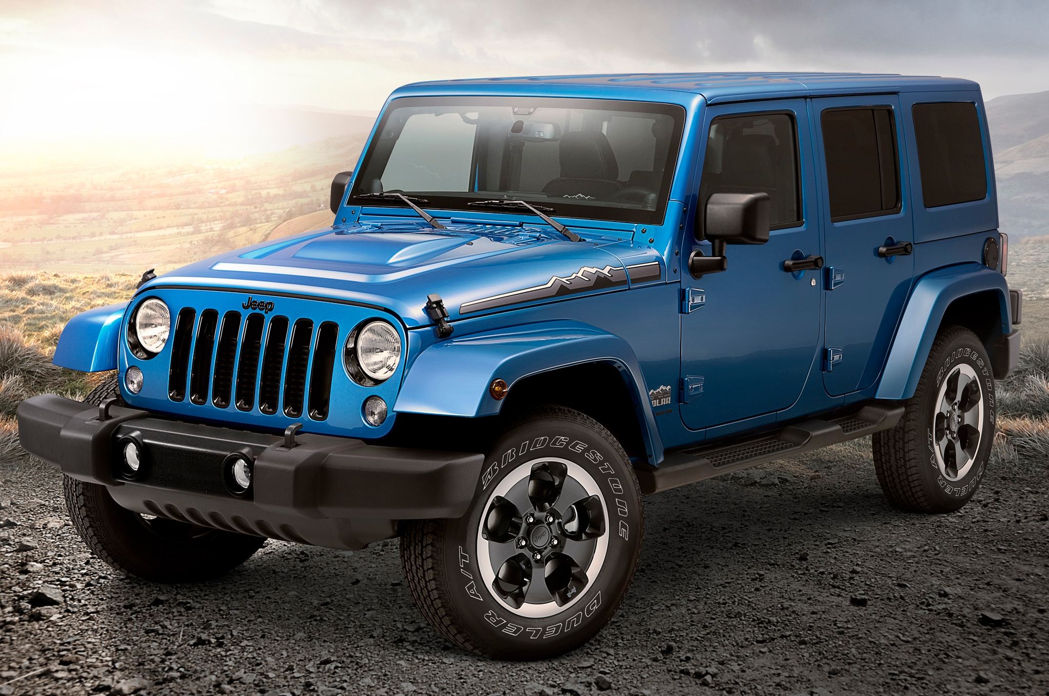 2014 Jeep Wrangler Polar Front Three Quarters1