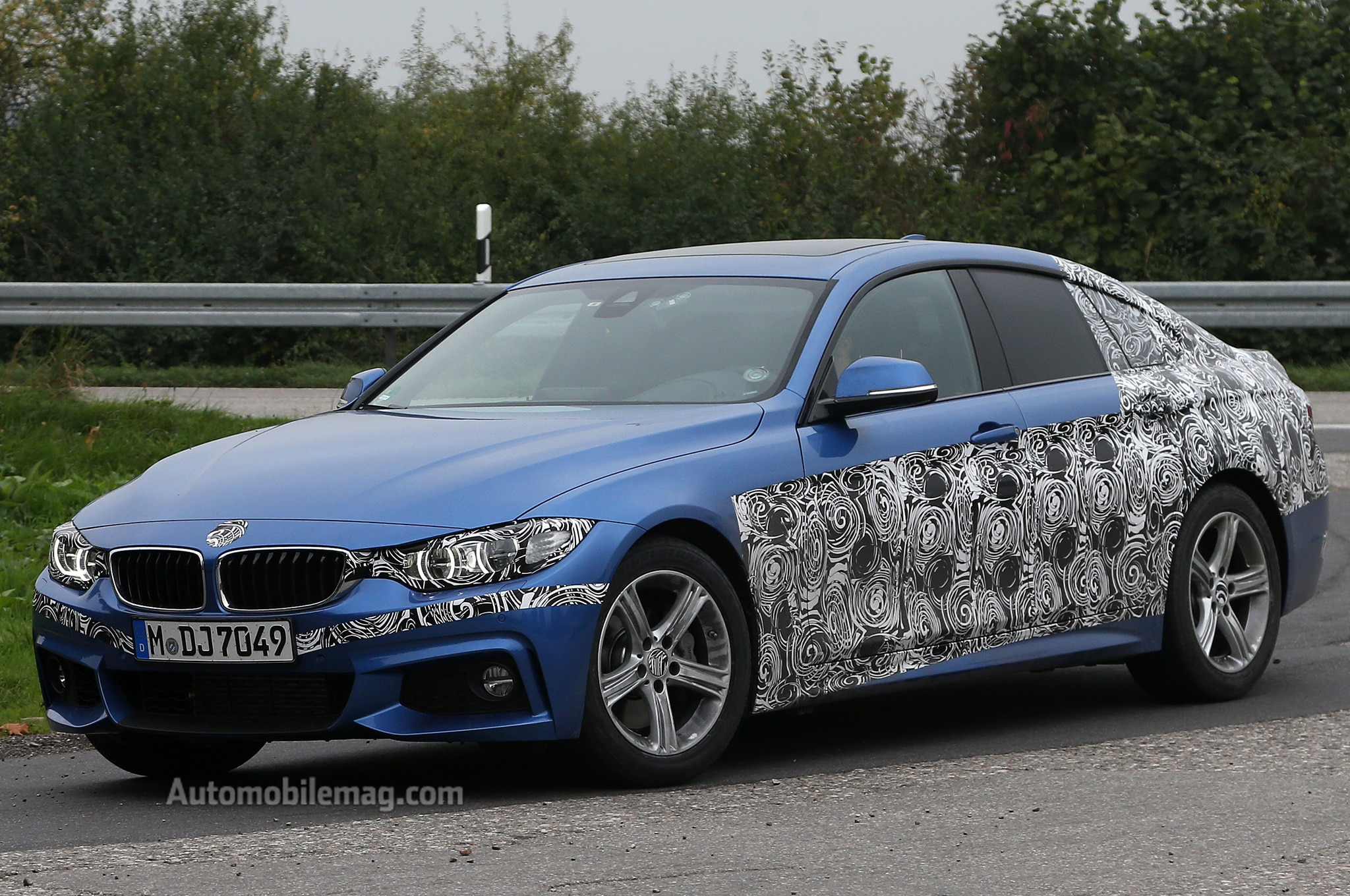 2015 BMW 4 Series Gran Coupe Prototype Front Three Quarters View1