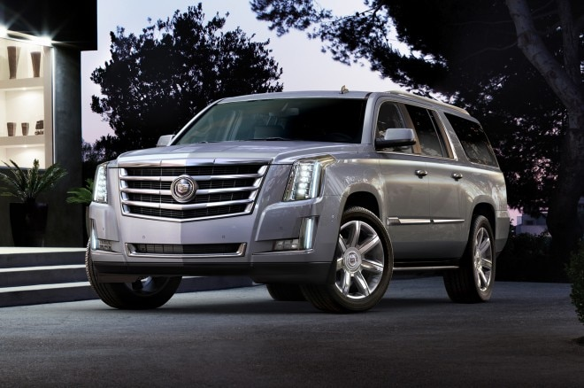 2015 Cadillac Escalade Front Three Quarter1 660x438