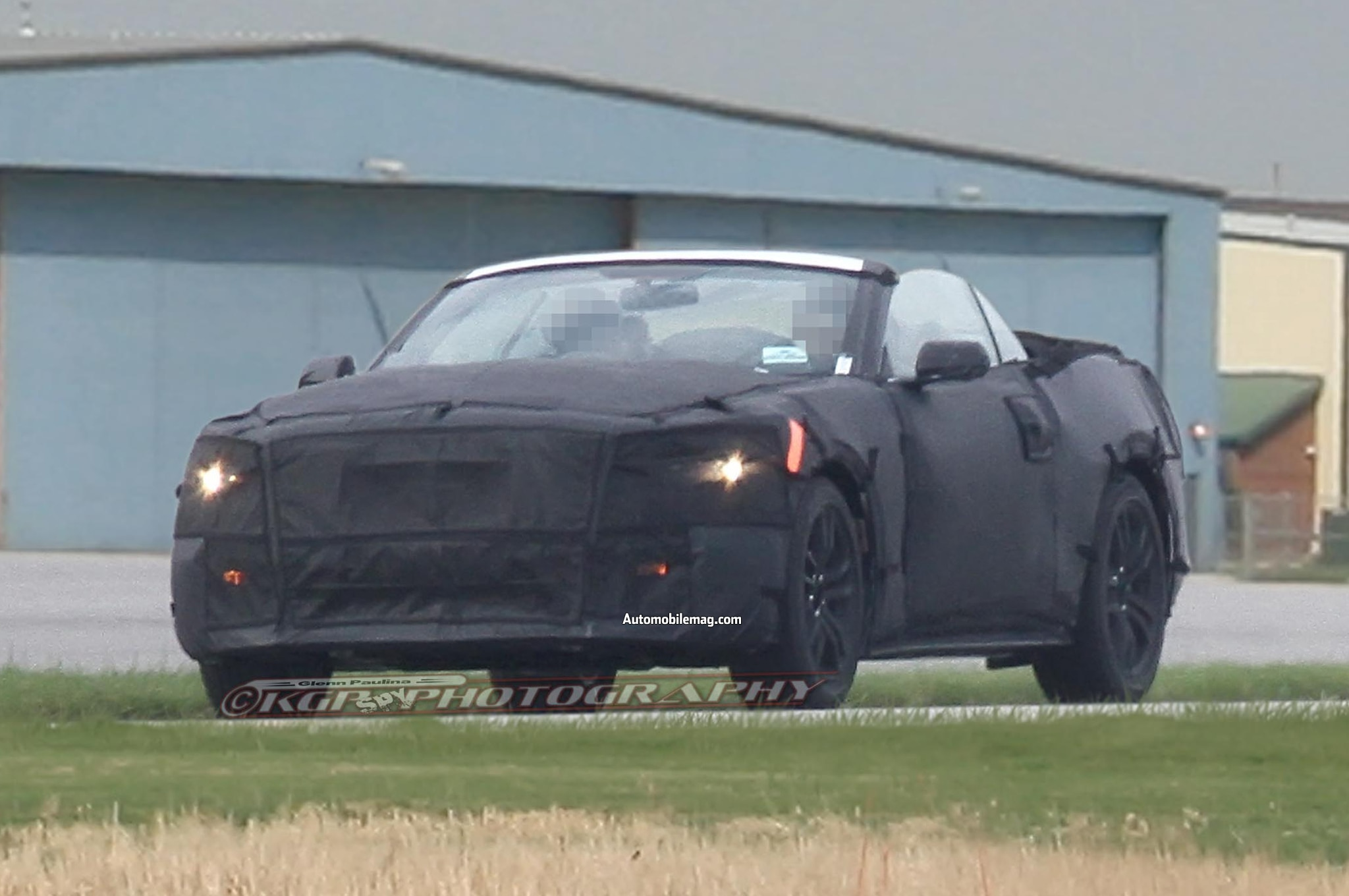 2015 Ford Mustang Convertible Spied Front Three Quarter Top Down 21