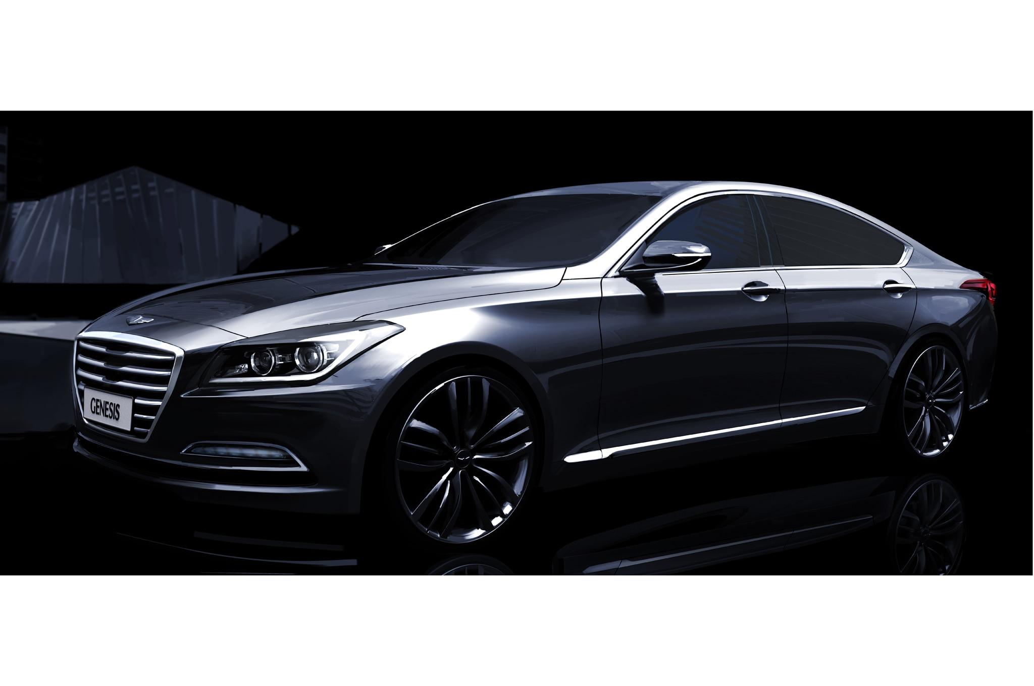 2015 Hyundai Genesis Sketch Front Three Quarter1