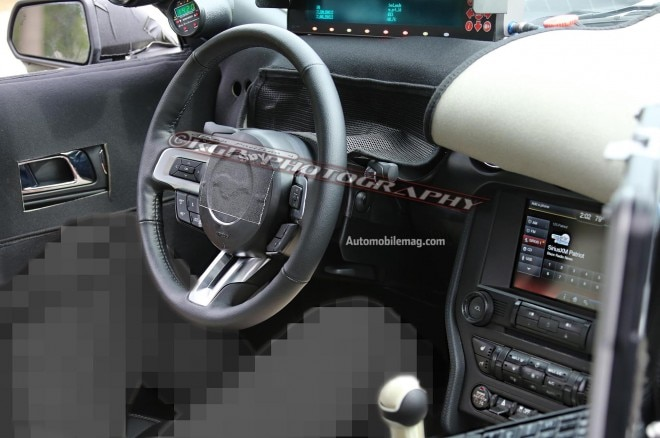 2015 Ford Mustang Spy Dashboard1 660x438