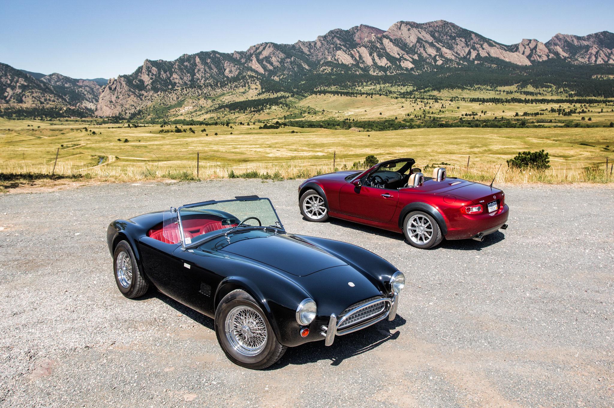 V 8 Roadsters Flyin Miata Habu And Shelby American Cobra Csx8000 Automobile Magazine
