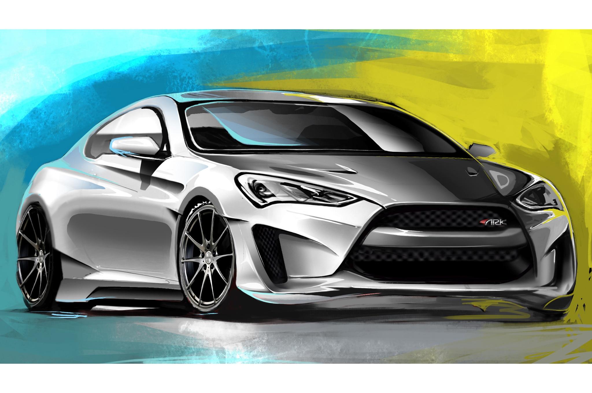 Hyundai Genesis Coupe Gains 4 0 Liter Engine For Sema Show