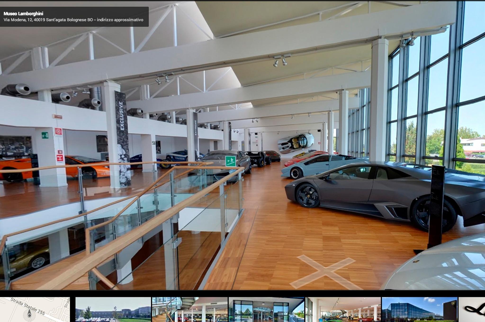 Lamborghini Museum On Google Street View Second Floor View1