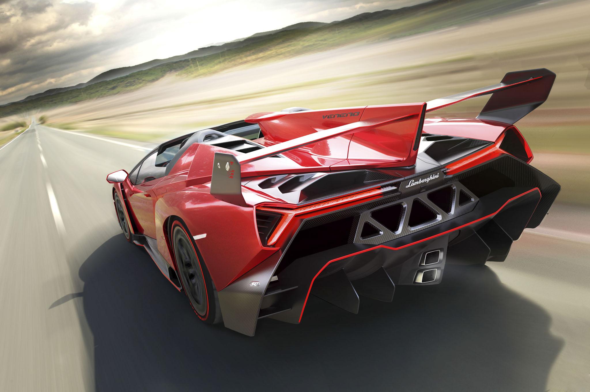 Veneno Roadster Rear Three Quarters