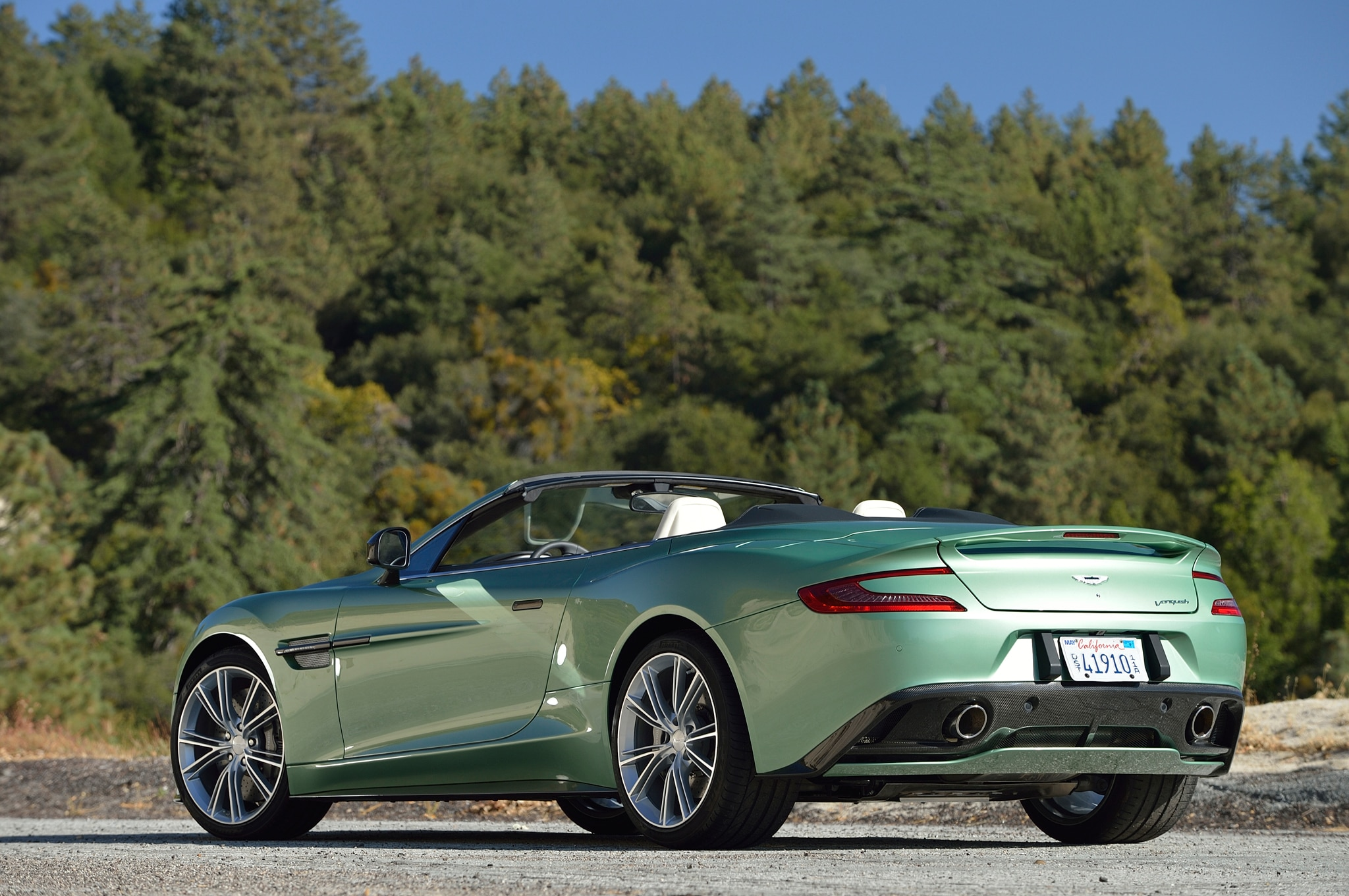 2014 Aston Martin Vanquish Volante Rear Three Quarter1