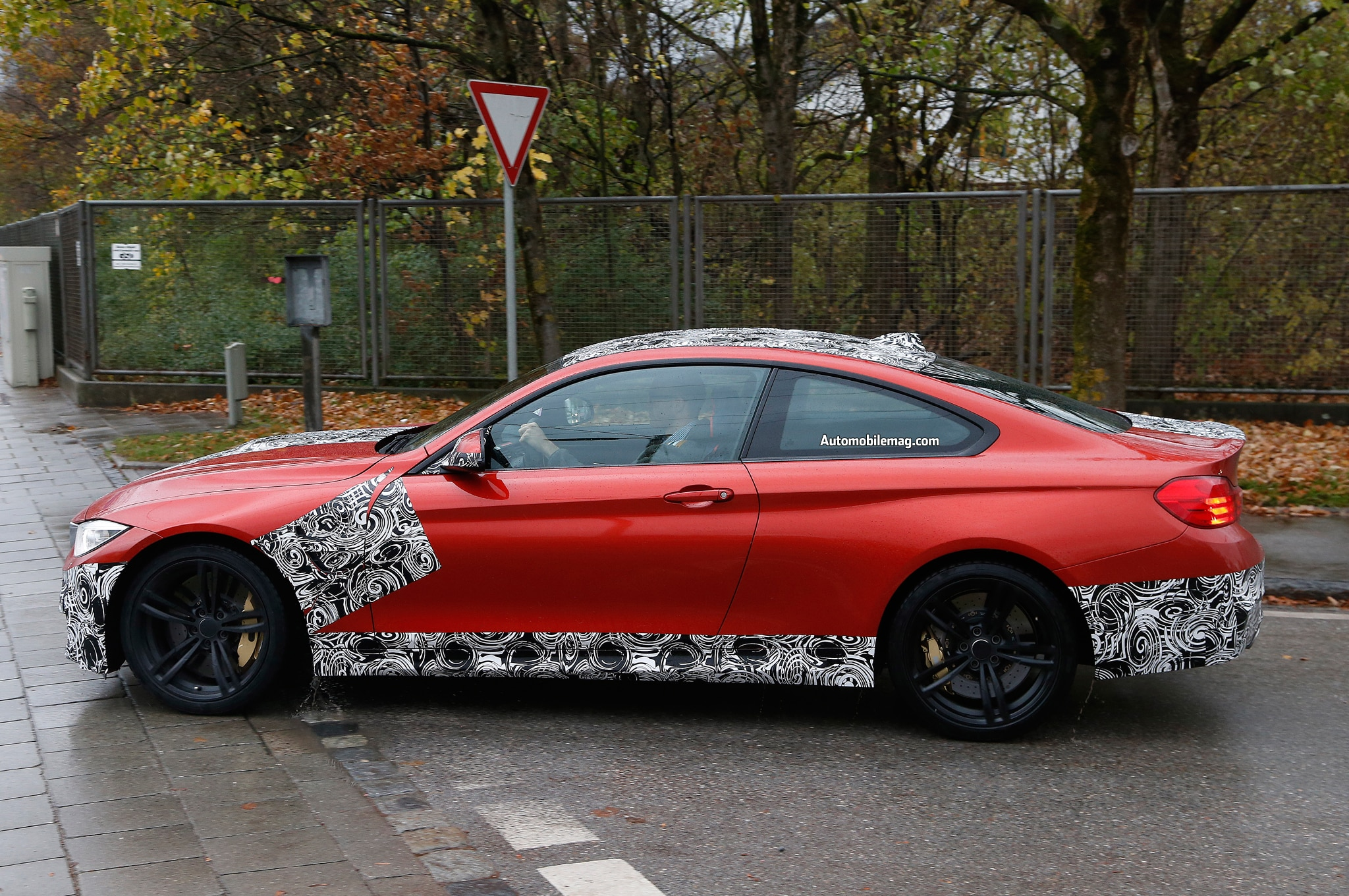2014 BMW M4 Sakhir Orange Spied Profile 11