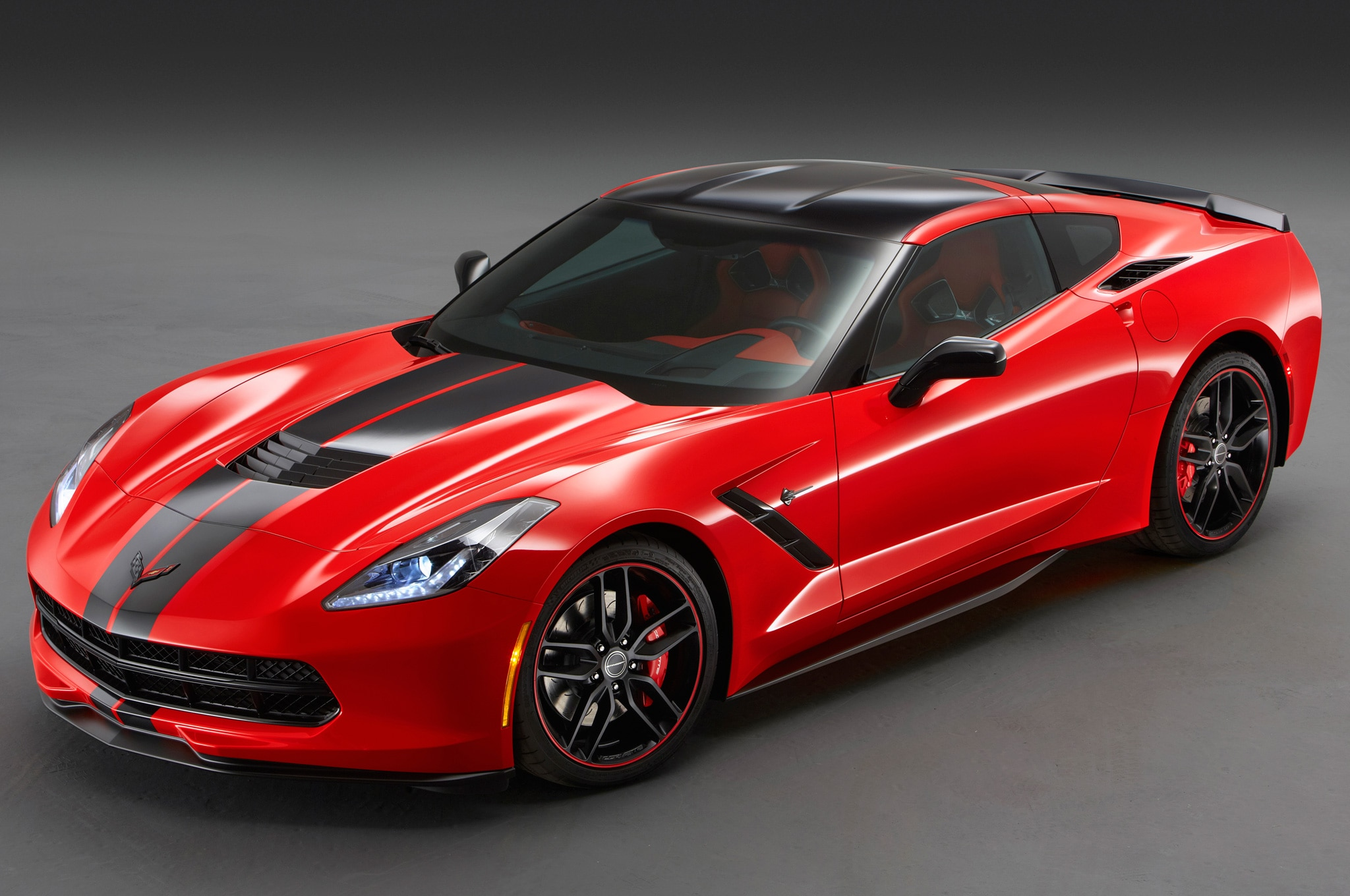 2014 Chevrolet Corvette Stingray Pacific Coupe 2013 SEMA Concept Front Three Quarters View1