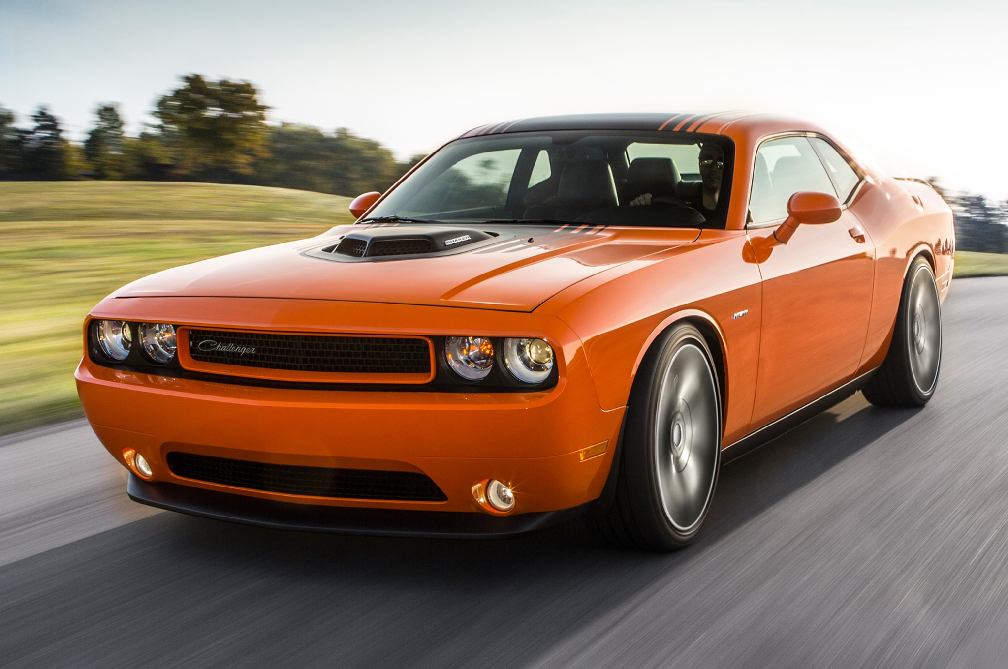 2014 Dodge Challenger RT Shaker Front Three Quarters View 21
