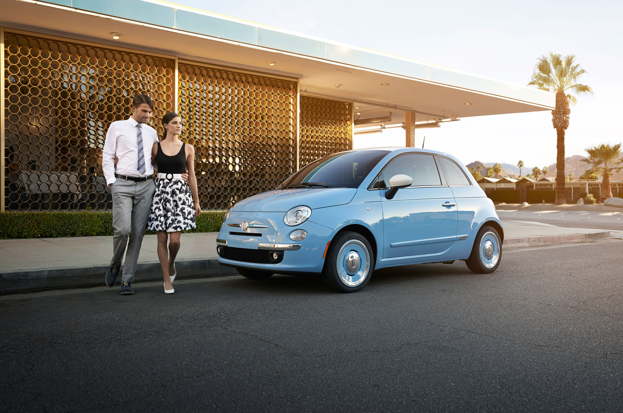 2014 Fiat 500 1957 Edition Front Left Side View1