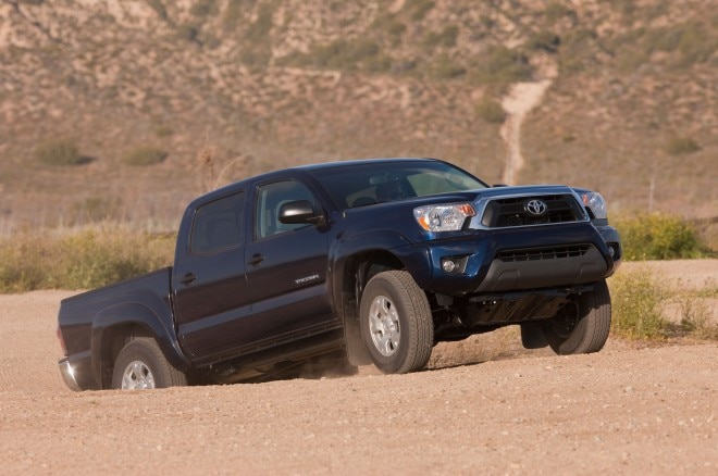 2014 Toyota Tacoma Front Three Quarter Dirt1 660x438