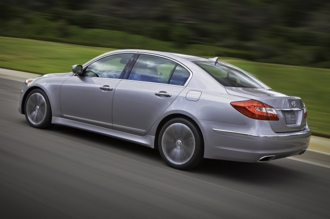2014 Hyundai Genesis Rear Three Quarters In Motion1 660x438