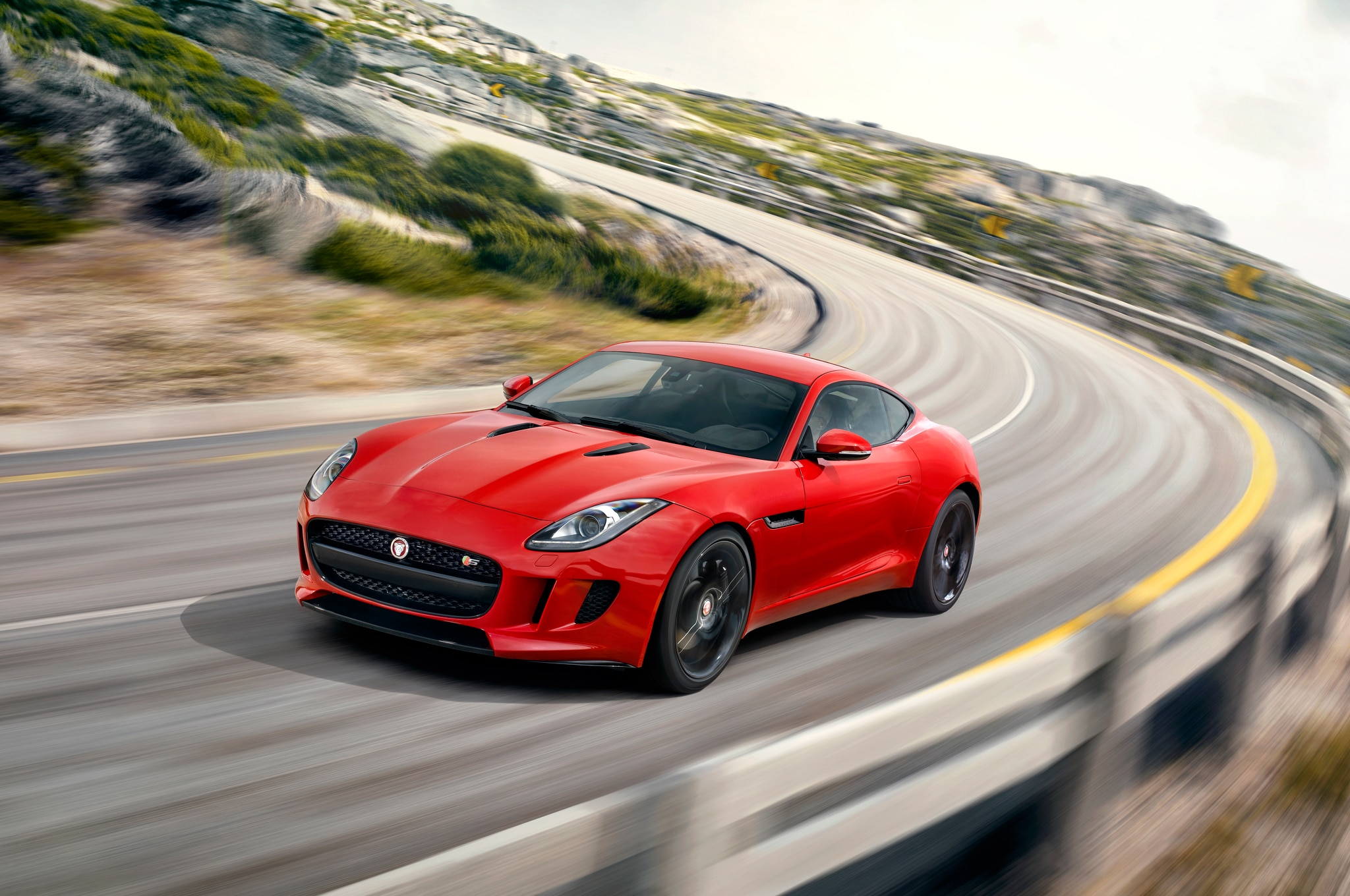 2015 Jaguar F Type S Coupe Front End In Motion1