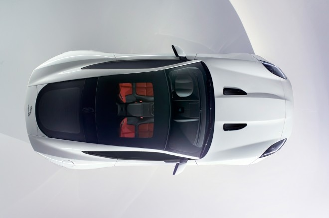2015 Jaguar F Type Coupe Overhead View 660x438