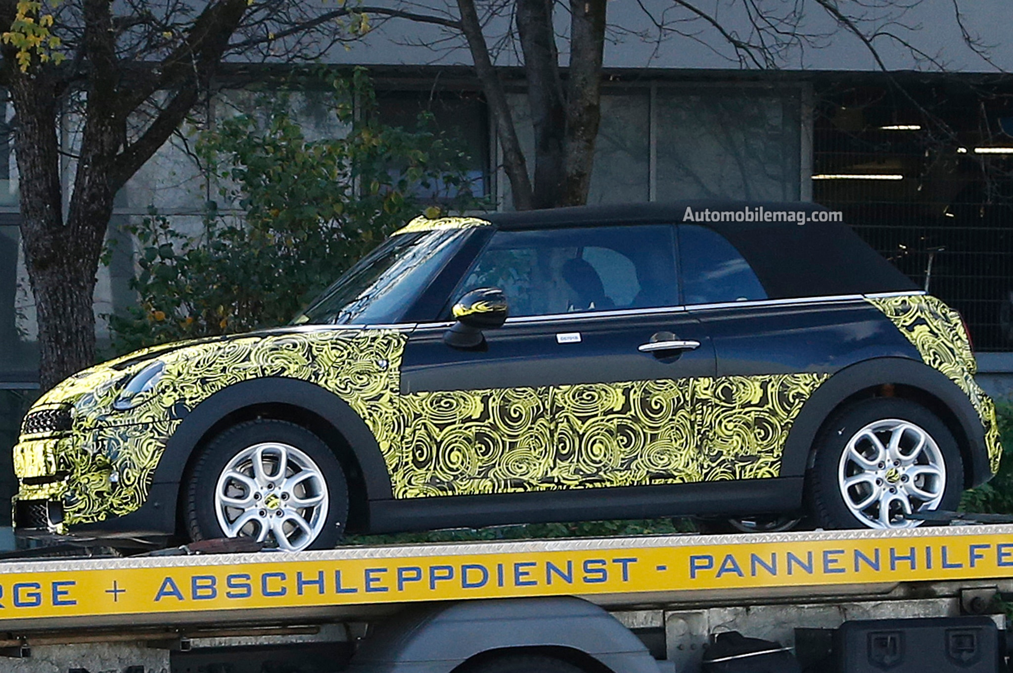 2015 Mini Cooper Convertible Spy Front Three Quarter1