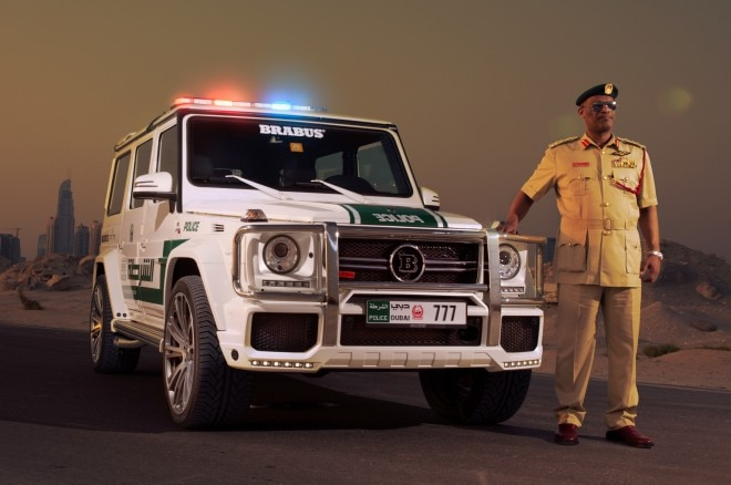 Brabus Mercedes Benz G63 AMG Dubai Police Car Front Three Quarters View1 660x438