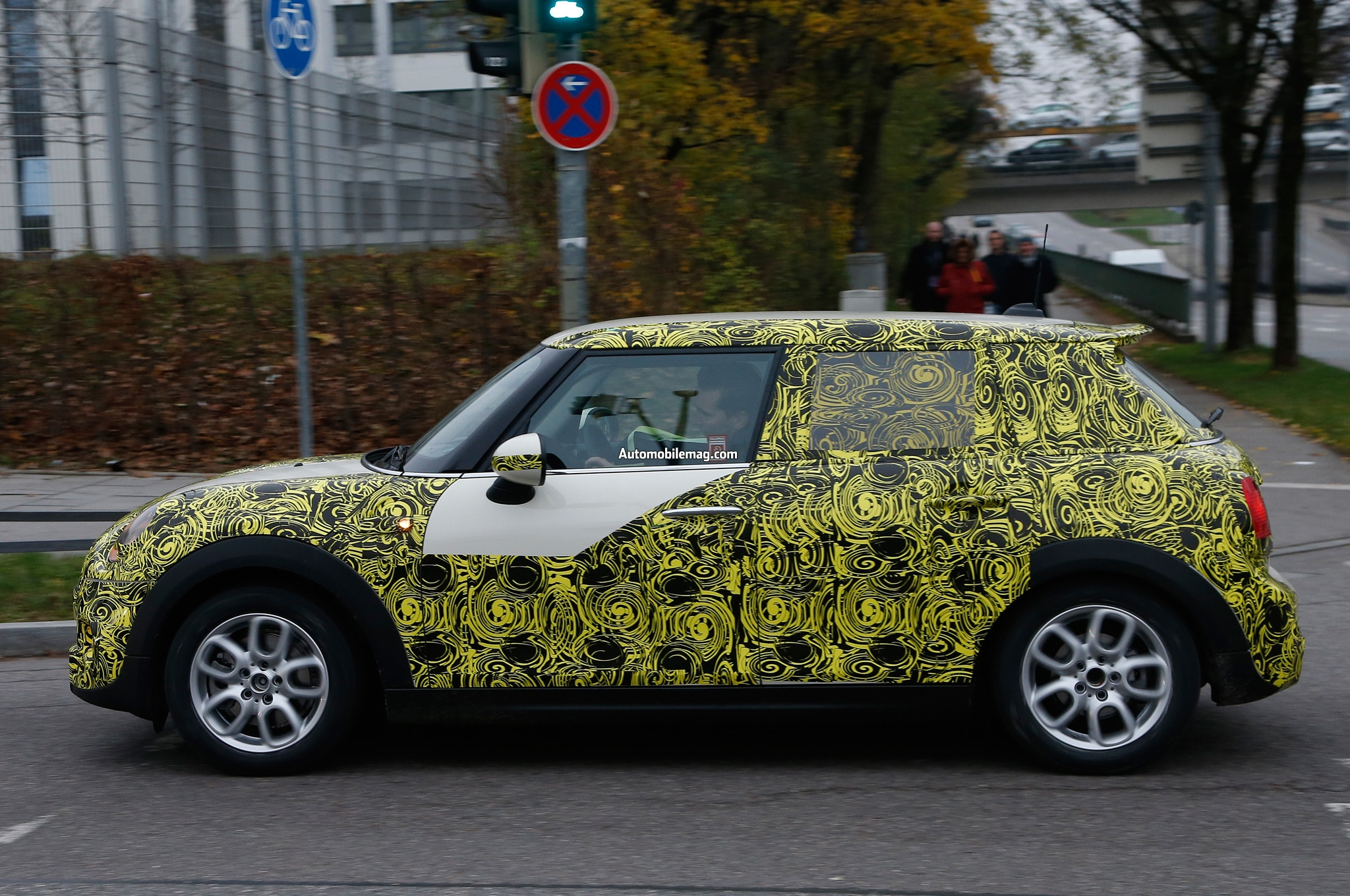Mini Cooper Four Door Hatchback Spied Profile 11