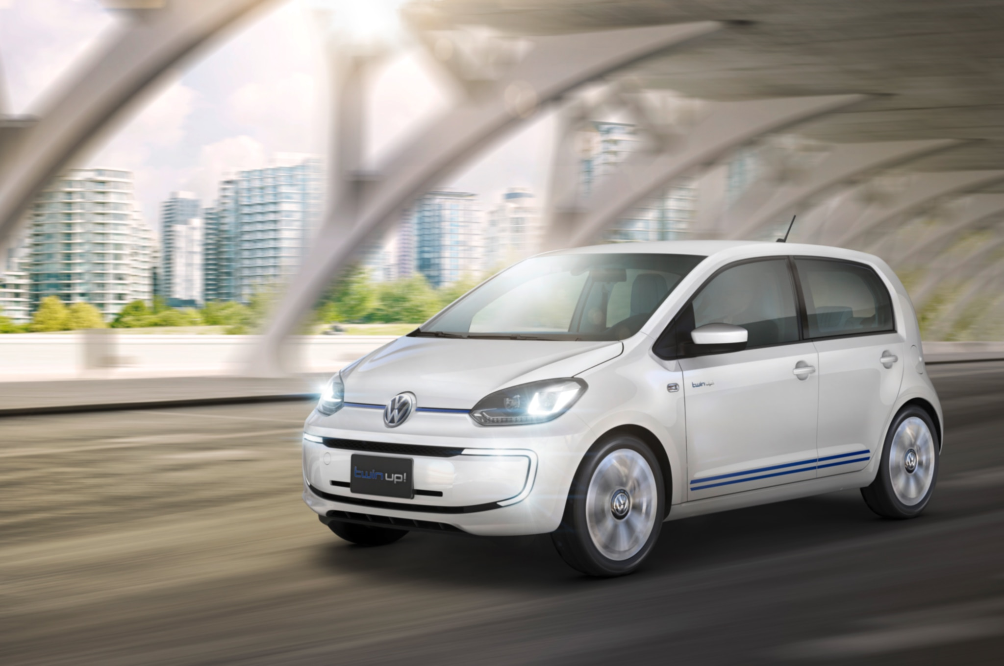 Volkswagen Twin Up Concept Front Three Quarter In Motion1