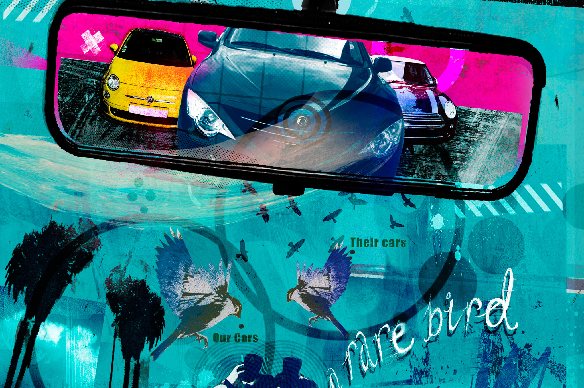 Rearview Mirror Illustration Cropped