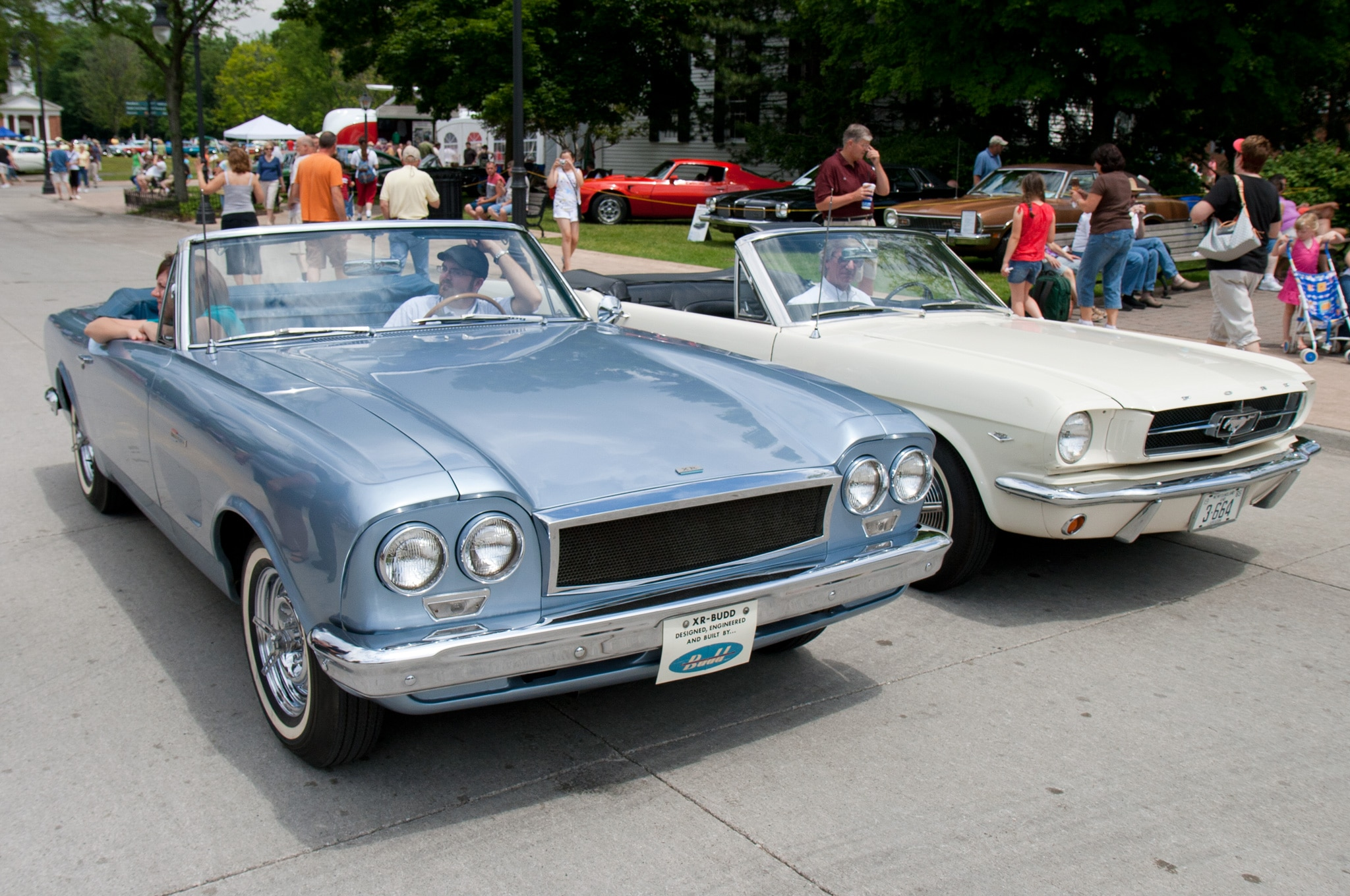 1963 Budd Xr 400 Prototype And 1965 Ford Mustang Convertible Front Three Quarters View2