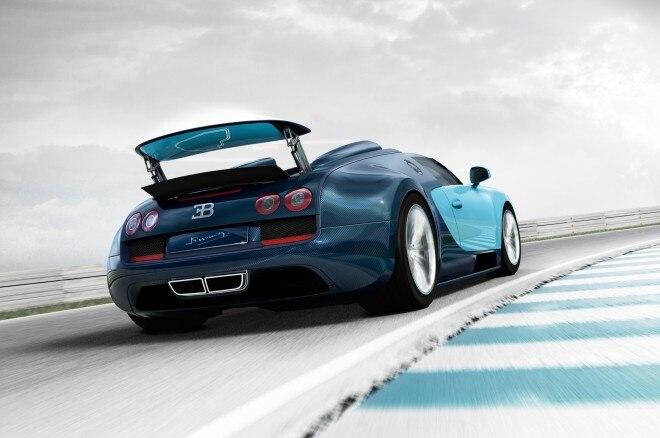 2013 Bugatti Veyron Grand Sport Vitesse Jean Pierre Wimille Edition Rear View1 660x438