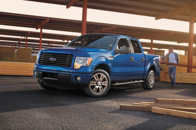 2014 Ford F 150 STX SuperCrew Front Three Quarter1 660x438