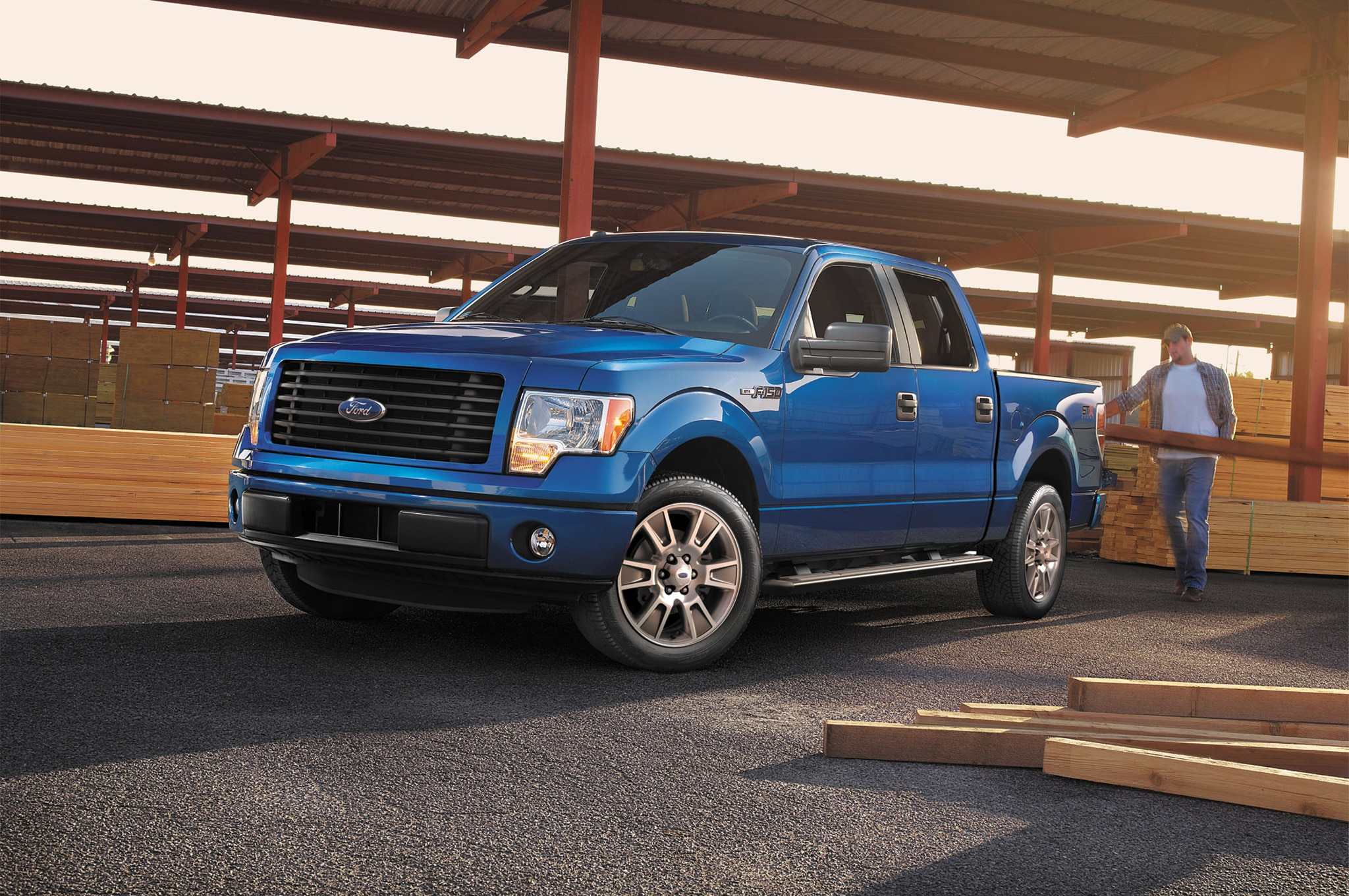 2014 Ford F 150 STX SuperCrew Front Three Quarter1