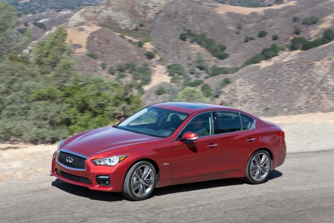 2014 Infiniti Q50 Hybrid Sport Drivers Side Above In Motion1 660x440