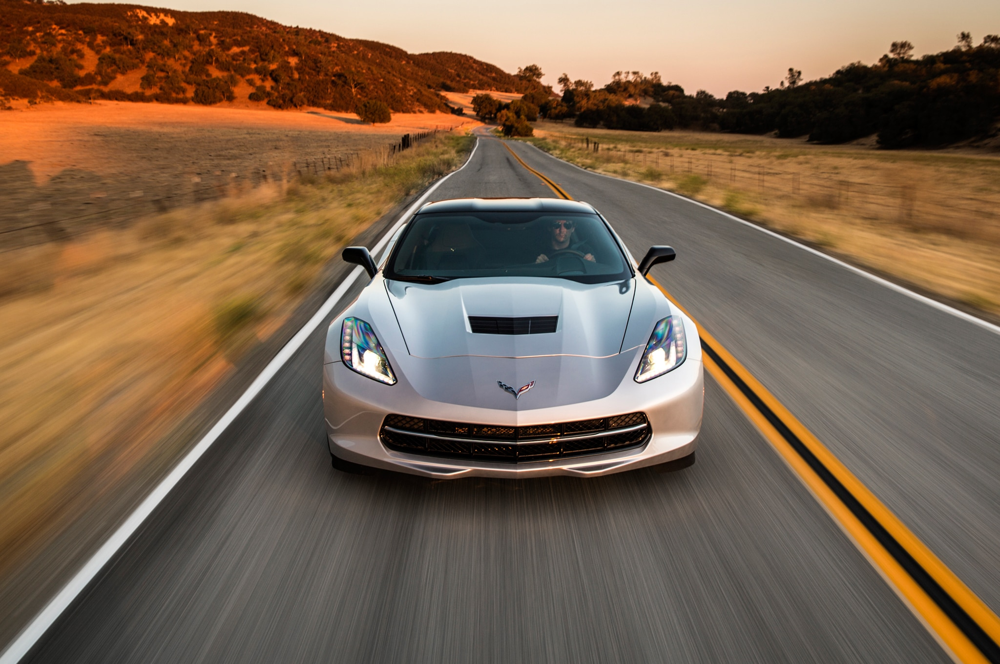 2014 Chevrolet Corvette Stingray Front Driving1