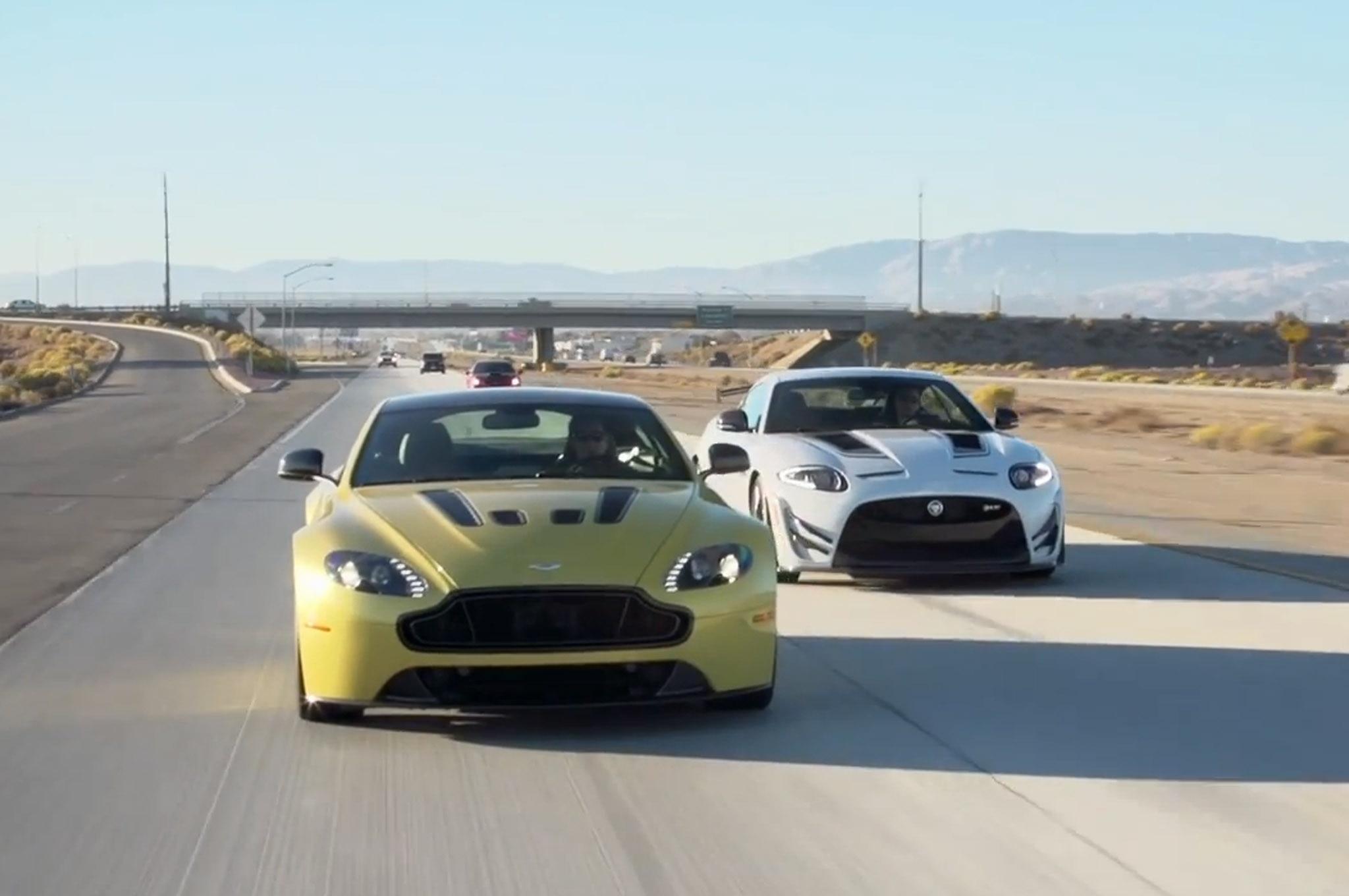 2014 Jaguar Xkr S Gt Head 2 Head 2015 Aston Martin V12 Vantage S