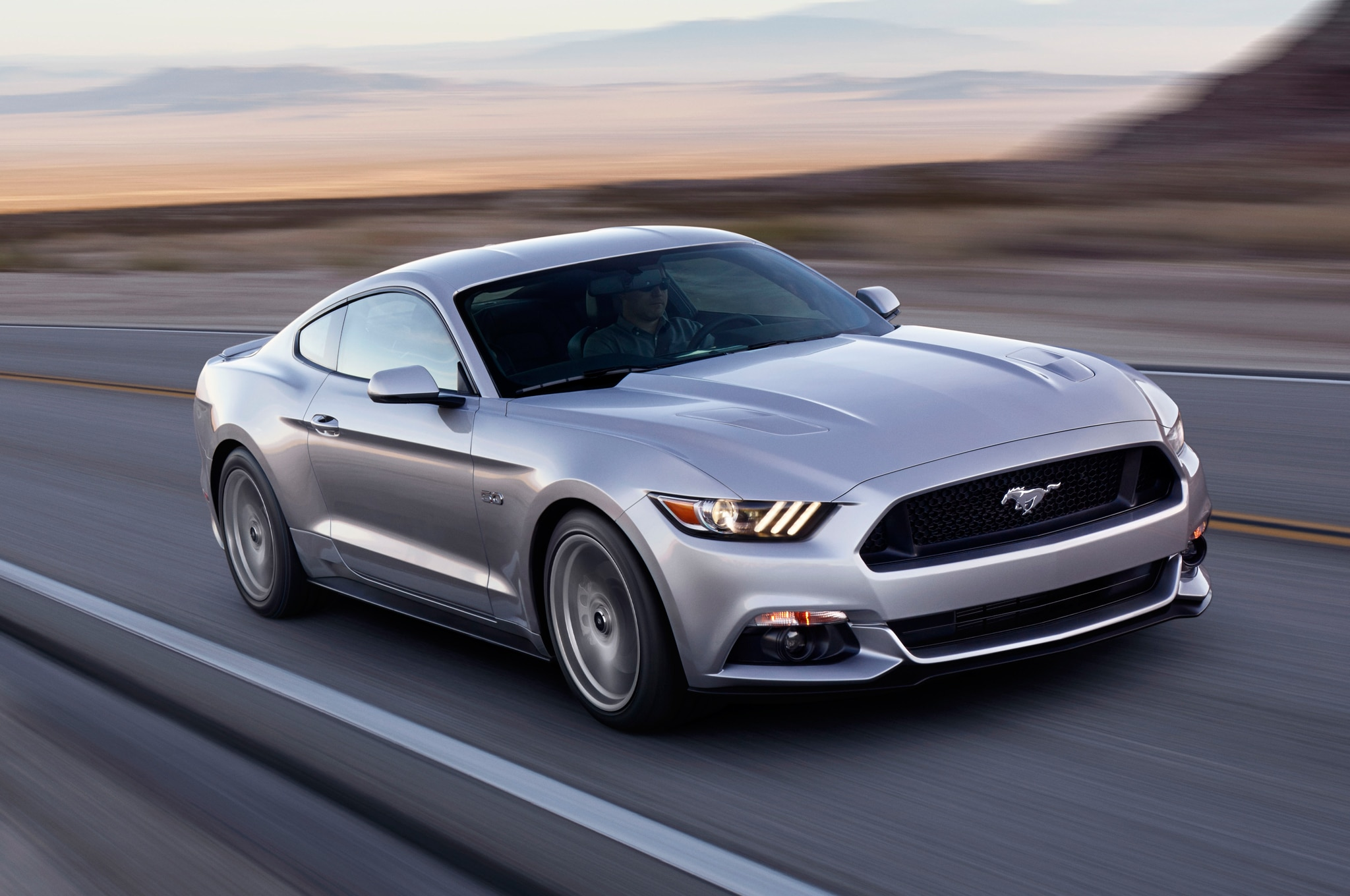 2015 Ford Mustang Front Three Quarter In Motion1