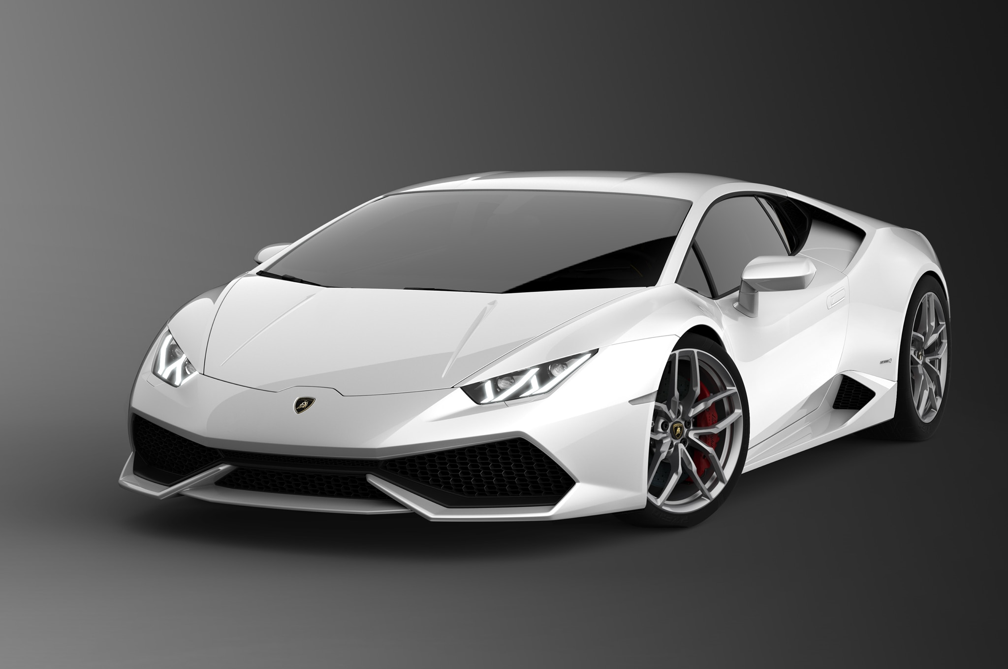 2015 Lamborghini Huracan White Front Three Quarters