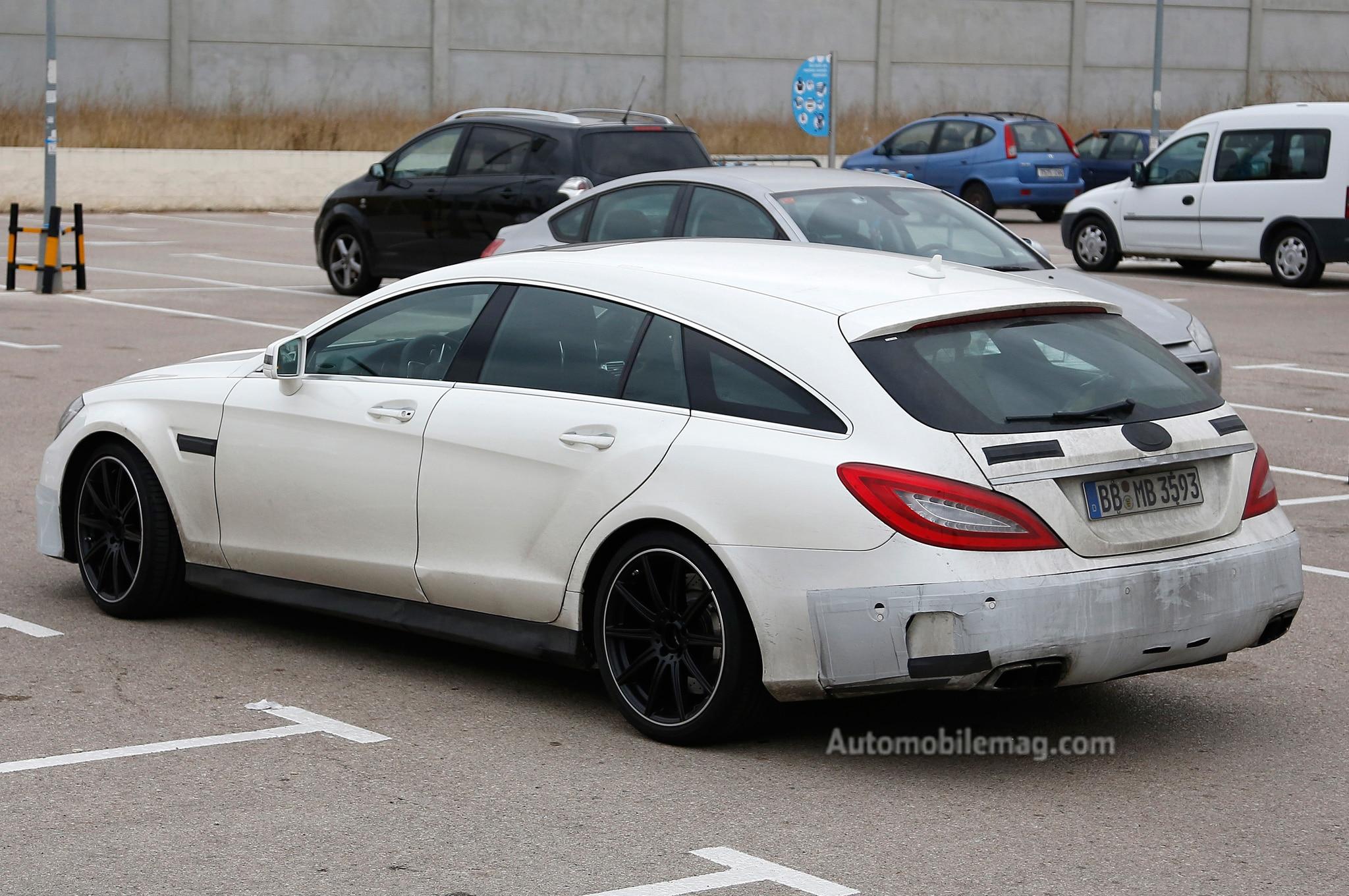 2015 mercedes benz cls63 amg facelift spied automobile for Mercedes benz cls63 amg