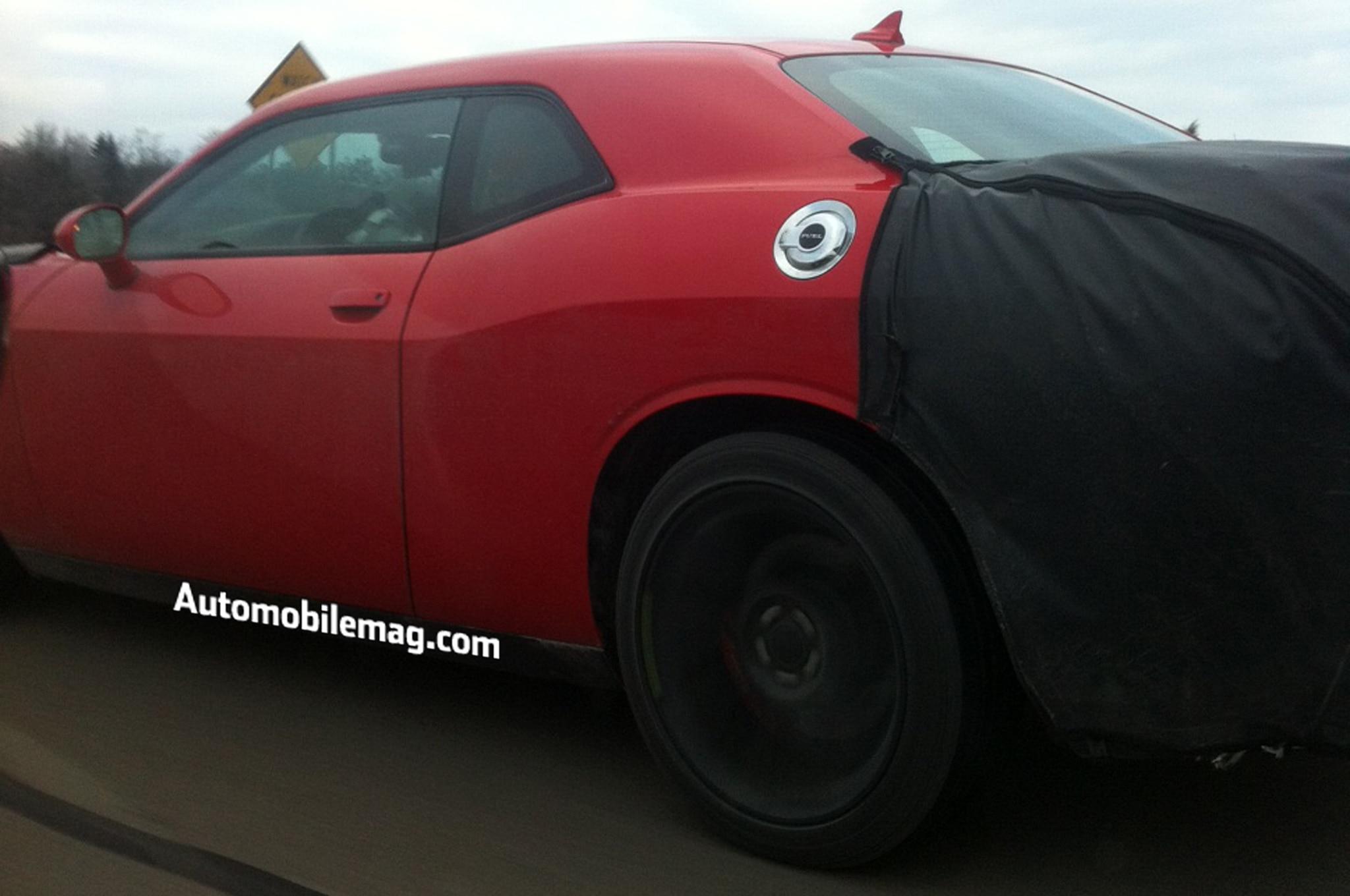 2015 Dodge Challenger Spied Rear Three Quarter1