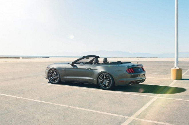 2015 Ford Mustang Convertible Rear Three Quarter1 660x438