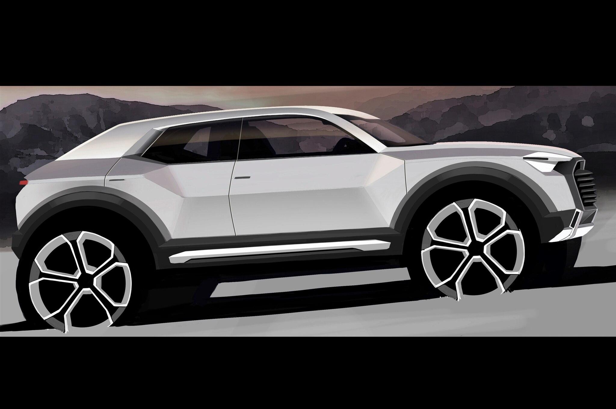 Audi Q1 Teaser Sketch1