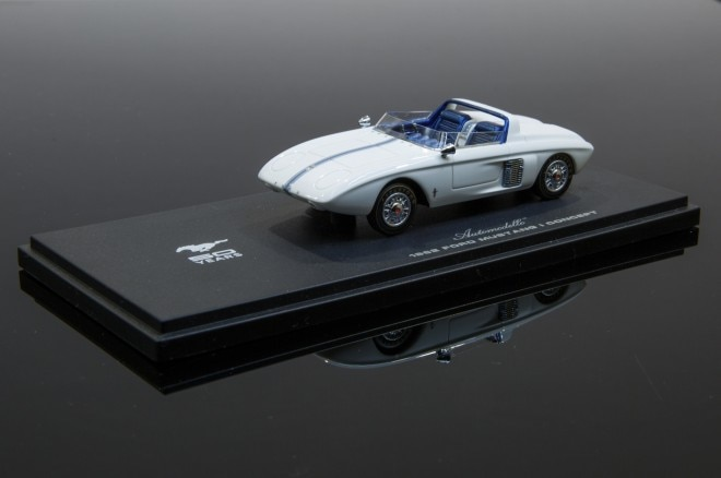 Automodello 1962 Ford Mustang I Concept Model Front Three Quarters View1 660x438