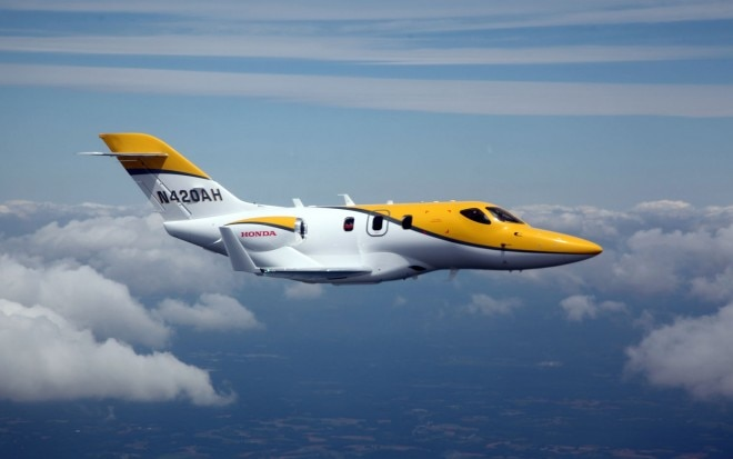 HondaJet F3 Takes First Flight1 660x413