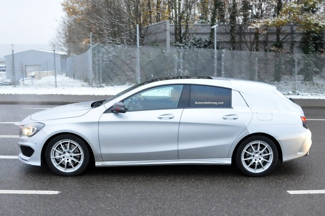 Mercedes Benz CLA Class Shooting Break Spied Profile 21 660x438