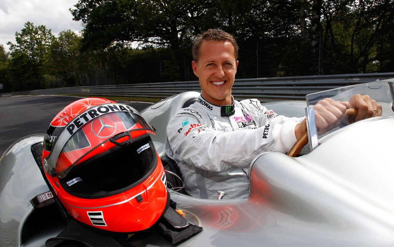 Michael Schumacher 1954 Mercedes Silver Arrow1